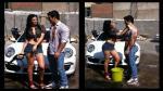 """Sully Sáenz de """"Esto es Guerra"""" lava los carros con mucho amor (FOTOS) - Noticias de sully sáenz"""