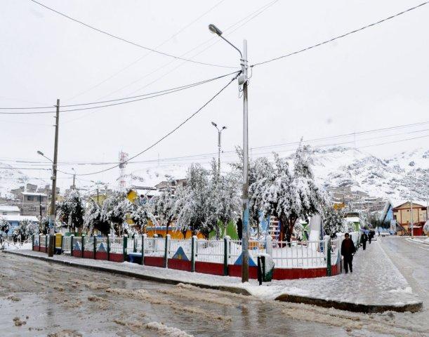 Pasco: Fuerte nevada afecta viviendas en Chaupimarca - Perú.com