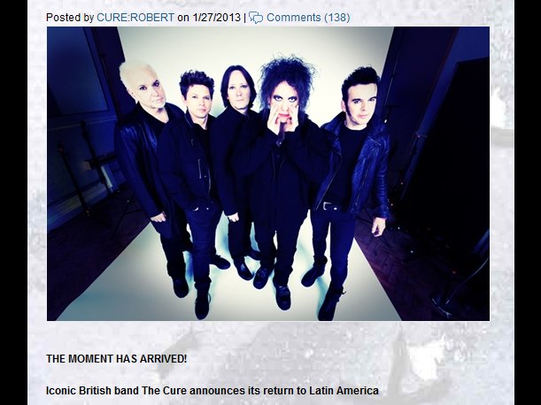 The Cure en Lima: ¡Vea el reel promocional de su concierto en el Estadio Nacional! (VIDEO)